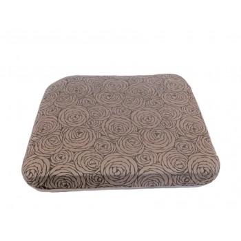 Coussin futon - Collection Fleurs de Bonheur - Gris