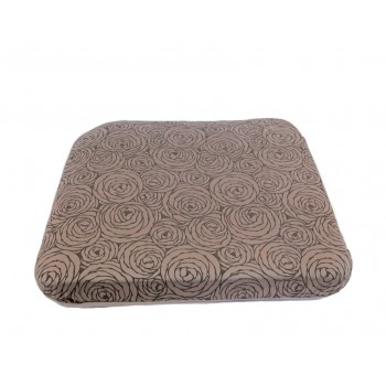 Futon cushion - Fleurs de Bonheur collection - Grey