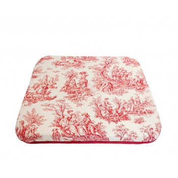 Coussin futon - Collection Jouy Oui ! - Rouge