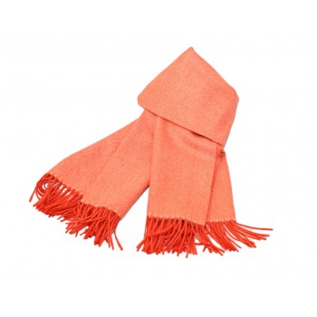 Baby alpaca throw - Orange like a carrot