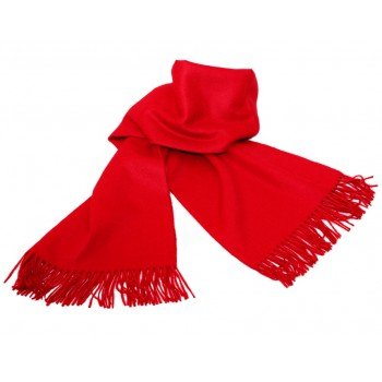 Baby alpaca throw - Red poppy
