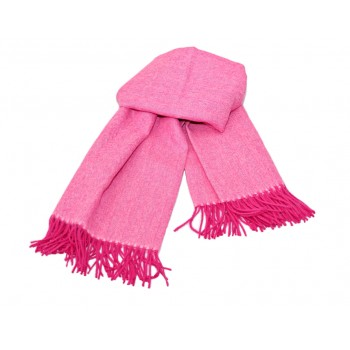 Baby alpaca throw - Shocking pink