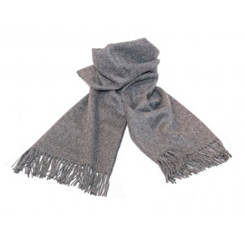 Baby alpaca throw - Stratus grey
