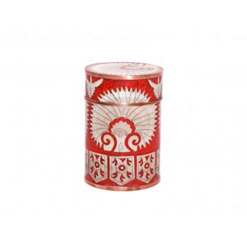 Small cloisonne pot - Eventail Rouge