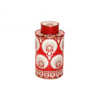Medium cloisonne pot - Eventail Rouge