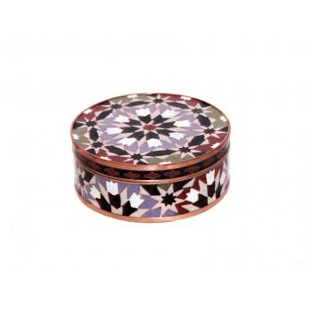 Round cloisonne pot - Kasbah