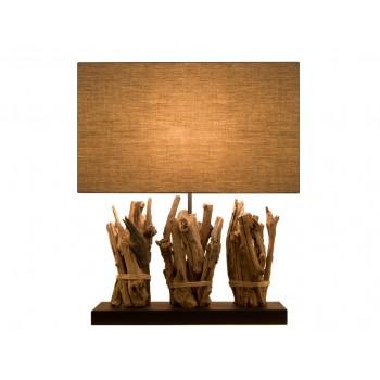 lampes d co originales en bois de r cup ration de couleur fonc e spiritopus. Black Bedroom Furniture Sets. Home Design Ideas