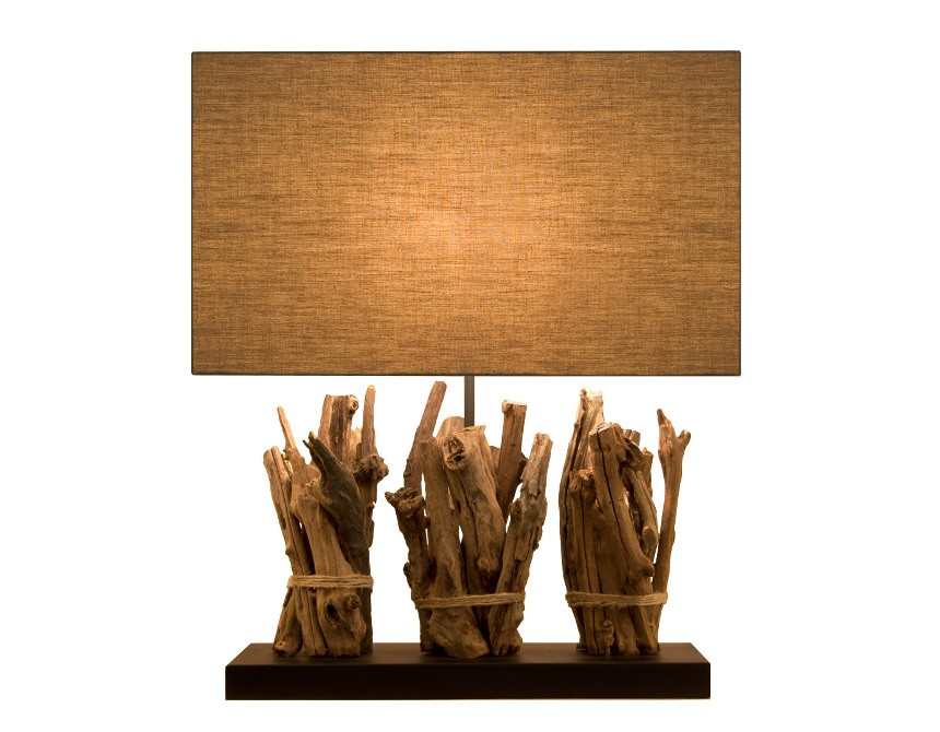 lampe de salon originale en bois recycl pour une d co colo. Black Bedroom Furniture Sets. Home Design Ideas
