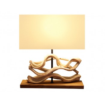 Lampe design bois Adhara