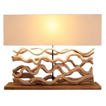 Lampe design bois Aludra