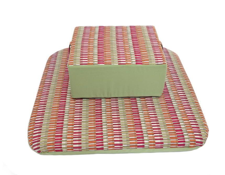 coussin de meditation zafu vert pour m diter la maison. Black Bedroom Furniture Sets. Home Design Ideas
