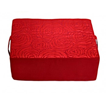 Meditation cushion - Fleurs de Bonheur collection - Red