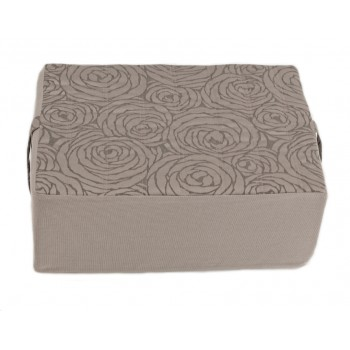 Meditation cushion - Fleurs de Bonheur collection - Grey