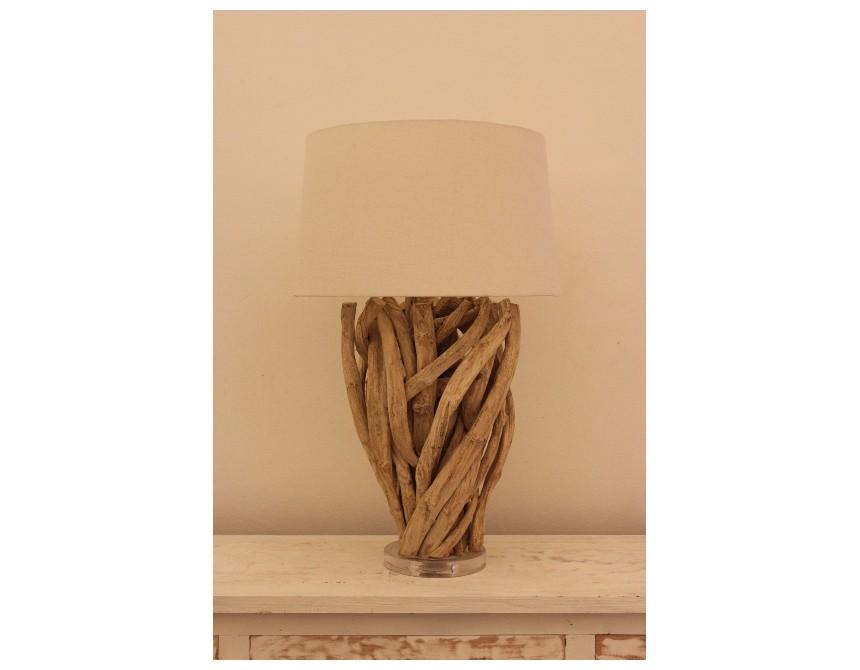 Lampe design bois capella spiritopus for Lampe de chevet violette