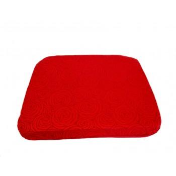 Coussin futon - Collection Fleurs de Bonheur - Rouge