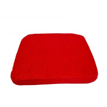 Futon cushion - Fleurs de Bonheur collection - Red