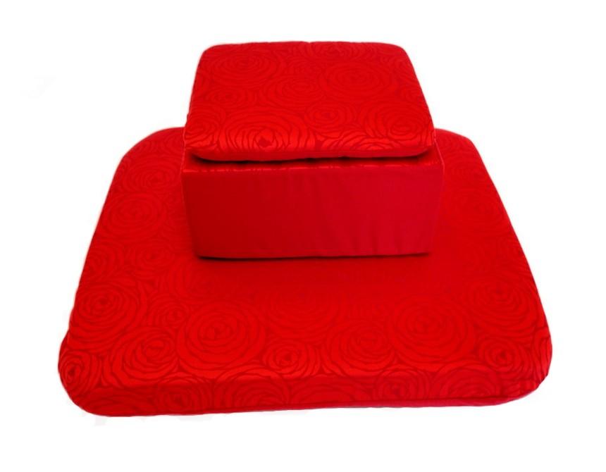 coussin meditation futon zabuton rouge coussin de sol. Black Bedroom Furniture Sets. Home Design Ideas