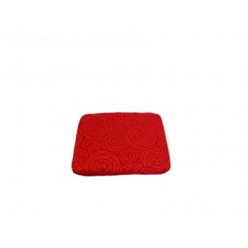Coussin capiton - Collection Fleurs de Bonheur - Rouge