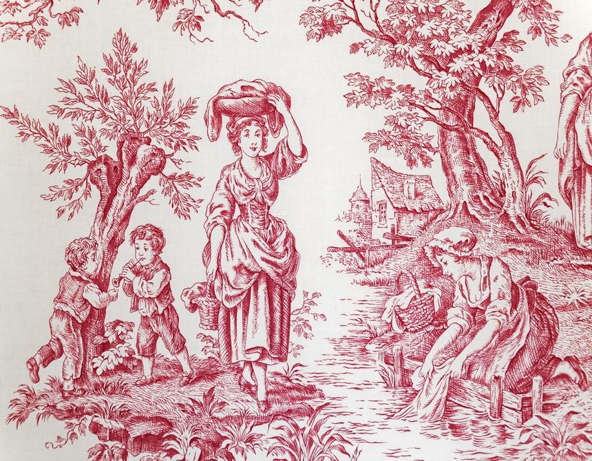coussin meditation deco toile de jouy rouge un coussin vraiment charmant. Black Bedroom Furniture Sets. Home Design Ideas
