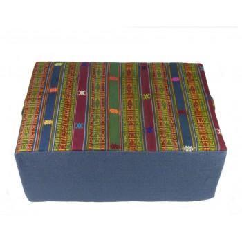 """Coussin de méditation - Collection d\'exception \""""Bhoutan\"""" - Bleu"""