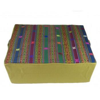 """Coussin de méditation - Collection d'exception """"Bhoutan"""" - Jaune"""