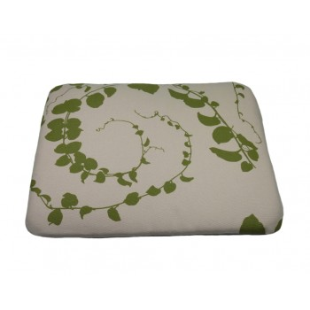Coussin capiton - Collection Serein Silence - Prune