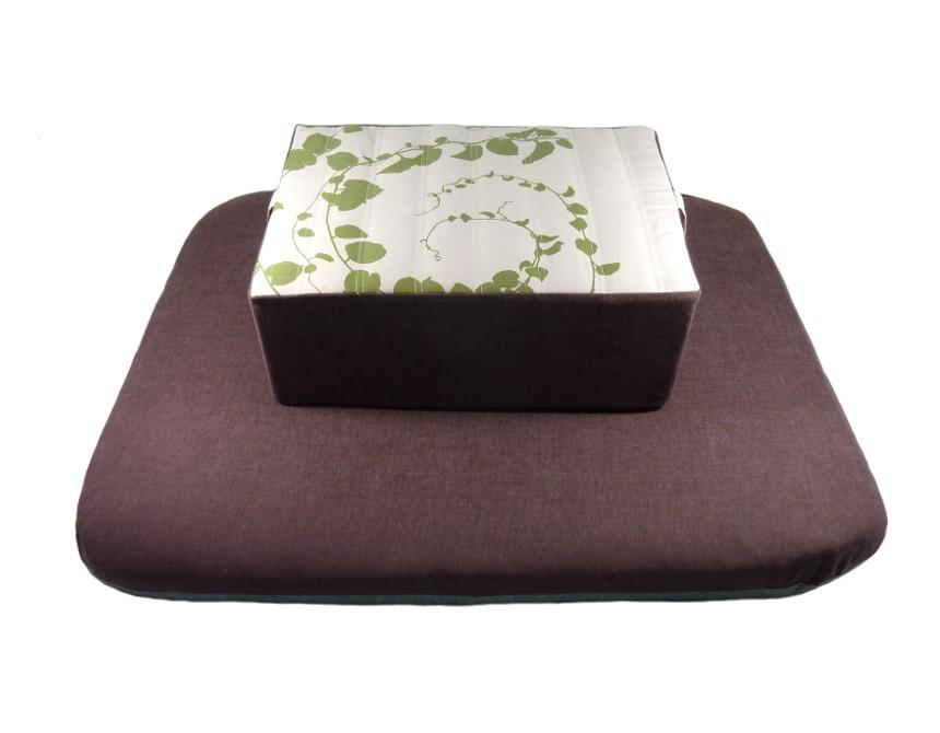 coussin pour la m ditation zafu rectangulaire avec un tissu d coratif magnifique. Black Bedroom Furniture Sets. Home Design Ideas