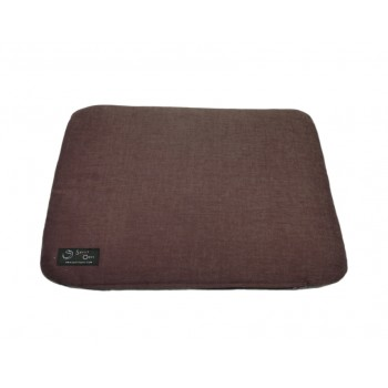 Coussin capiton - Collection Serein Silence - Prune et Gris