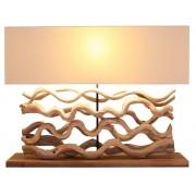 Lampes en bois clair