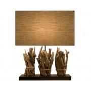 Dark wood lamps