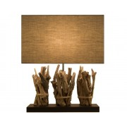 Lampes en bois foncé