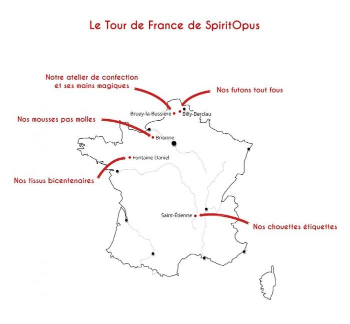Le Tour de France des coussins de SpiritOpus