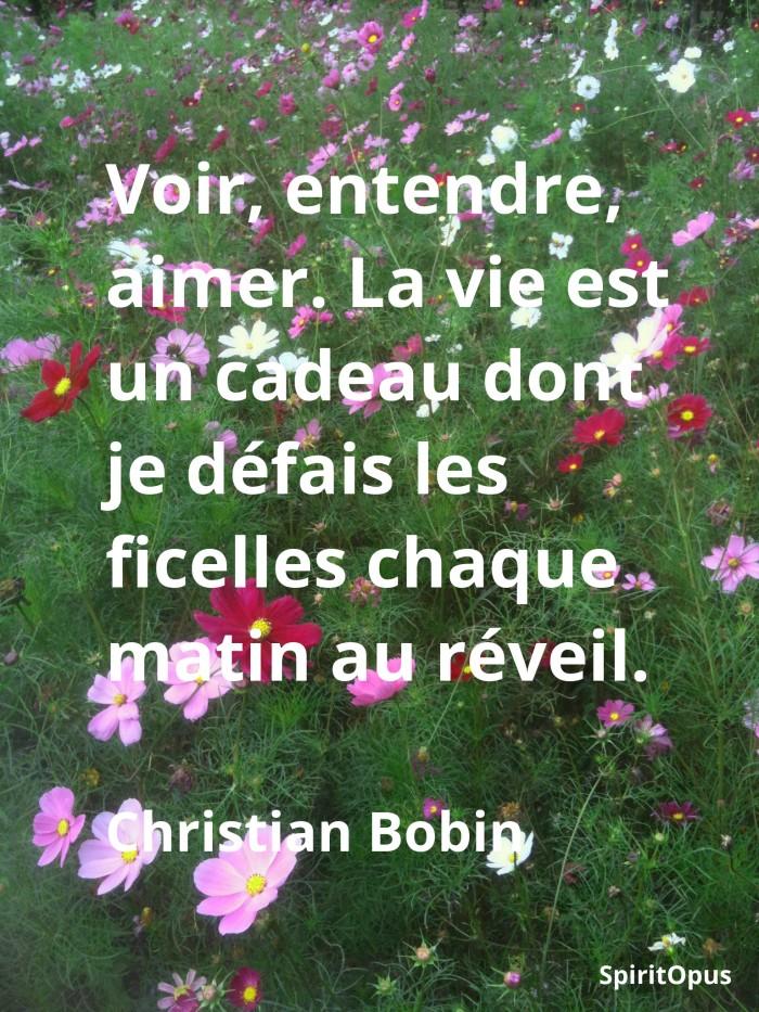 La vie est un cadeau Christian Bobin