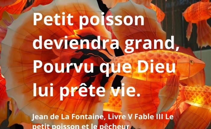 Petit poisson Jean de La Fontaine