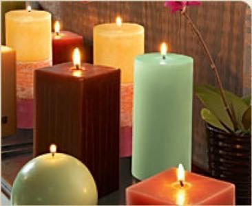 bougies parfumées colorées