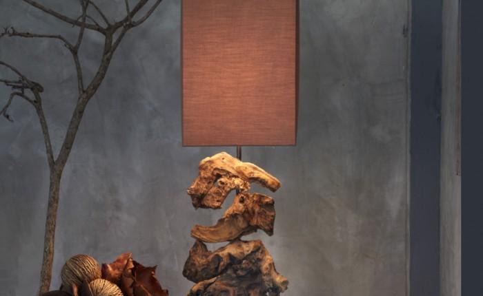 lampe bois de récupération