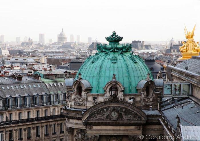 toit de l'opéra garnier en cuivre