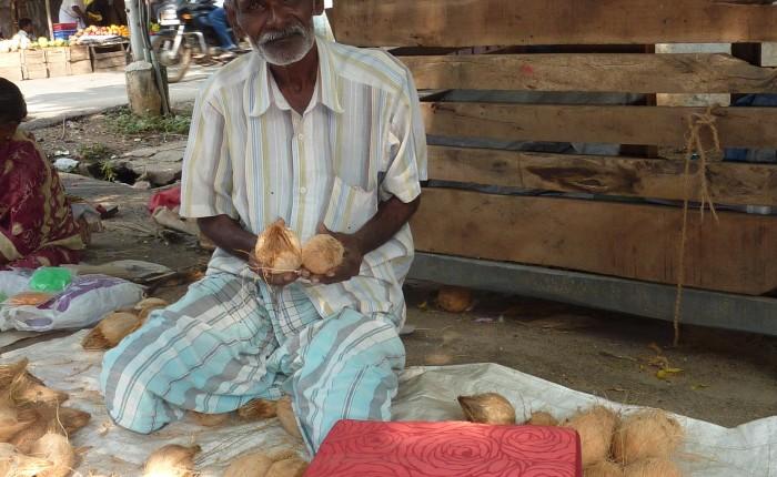 coussin de meditation marchand de fruits