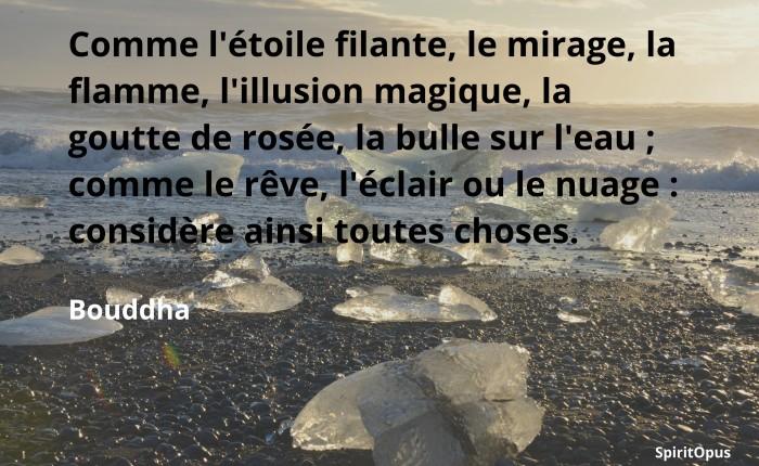 Comme l'étoile filante, le mirage... Bouddha