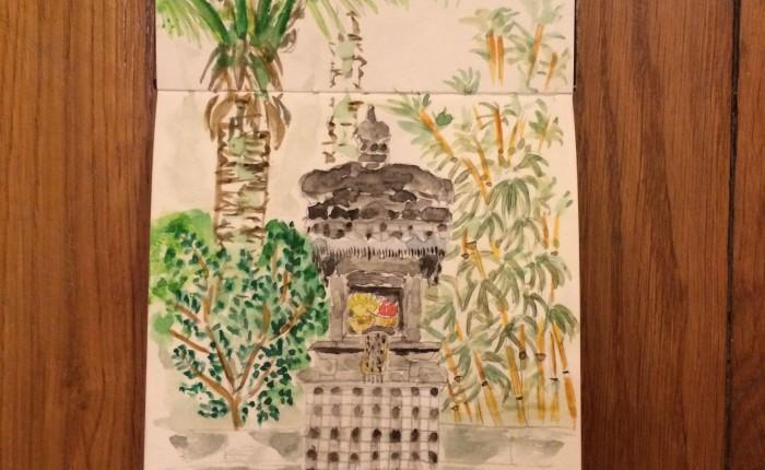 offrandes autel Bali