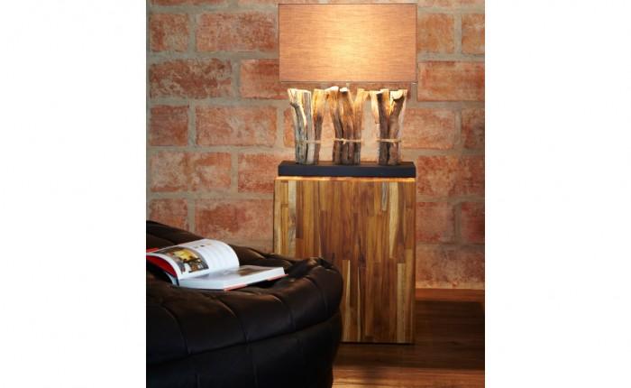 lampe en bois recycle design spiritopus