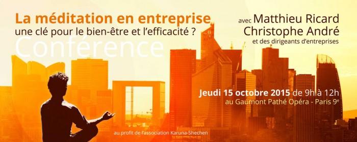 Conférence sur la méditation en entreprise avec Matthieu Ricard et Christophe André