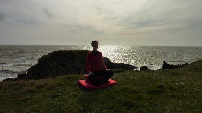 coussin de méditation rectangulaire