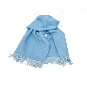 Baby alpaca throw - Celestial blue