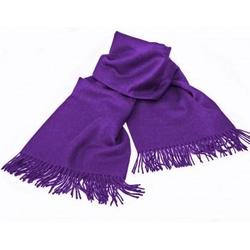 Baby alpaca throw - Ultra purple