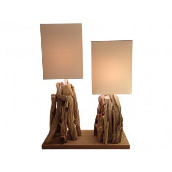 Lampe bois Janus