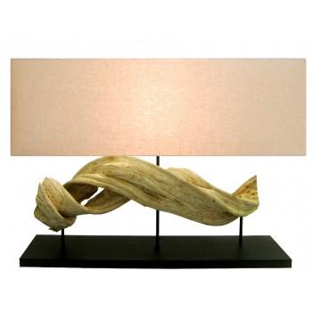 Lampe design bois Polaris