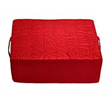 Meditation cushion - Fleurs de Bonheur collection - Red
