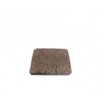 Padded cushion - Fleurs de Bonheur collection - Grey